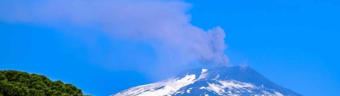 sky mountain blue sky volcano
